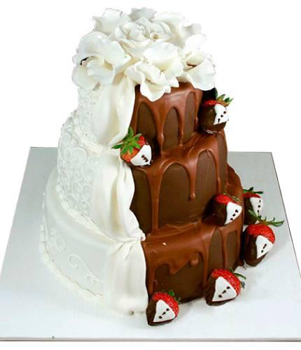 Торт Водопад из шоколада