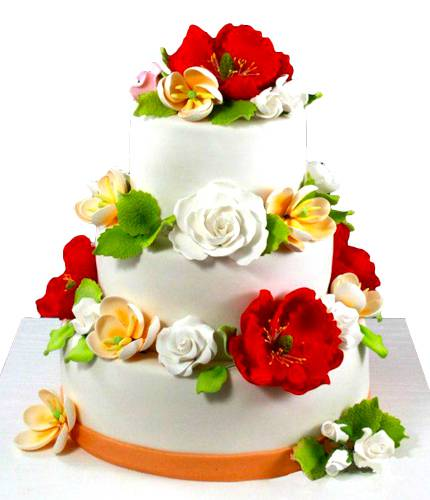 Торт с разными цветами