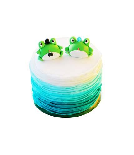 Торт с двумя лягушками