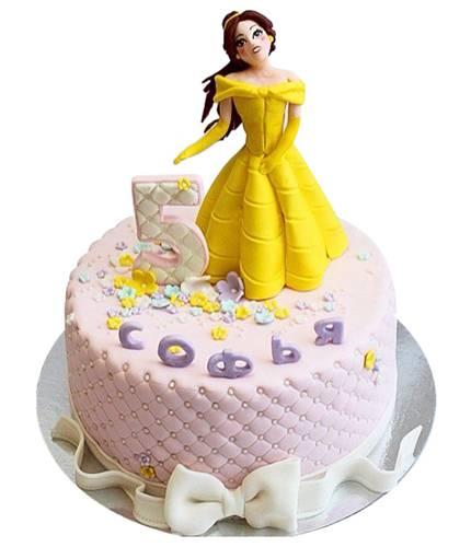 Торт прицесса в жёлтом платье