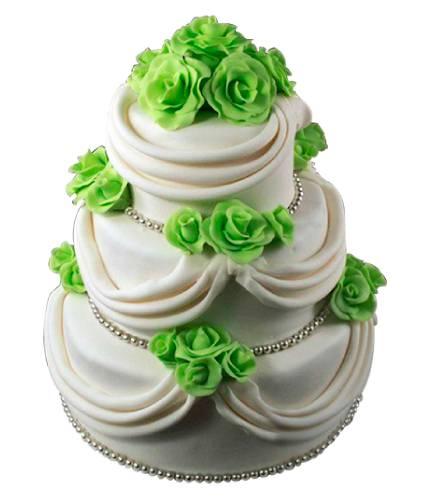 Торт Зеленые розы