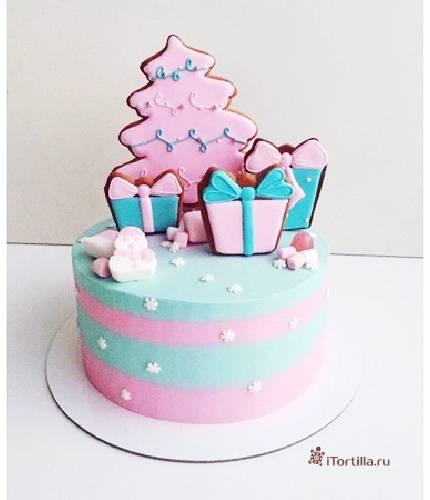 Торт подарочки
