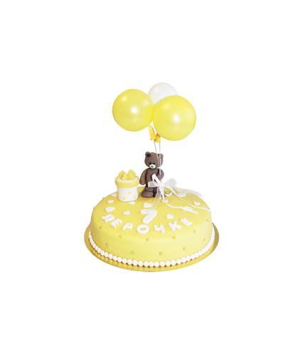 Торт Тедди с шариками