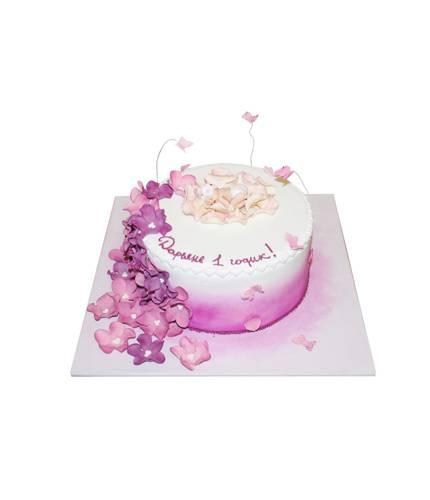 Торт Младенец в цветах