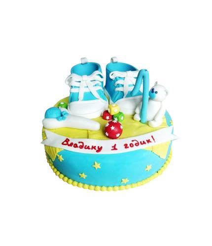 Торт на годик с кедами