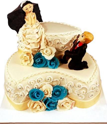 Торт с веселящимися фигурками