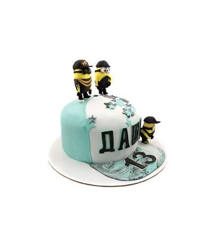 Торт Кепка с миньонами