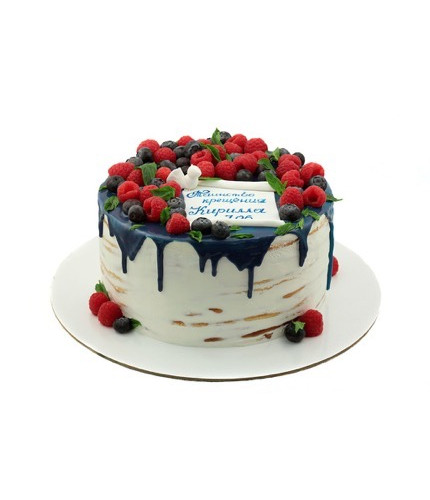 Открытый торт на крестины