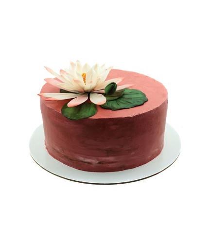Торт с цветком Лотос