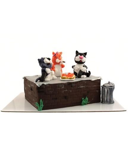 Торт коты на отдыхе