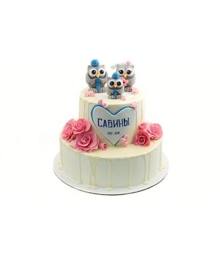 Свадебный торт Совы