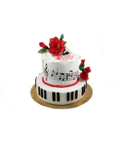 Торт с клавиши пианино