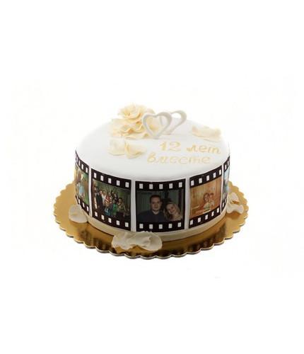 Торт на юбилей киноману
