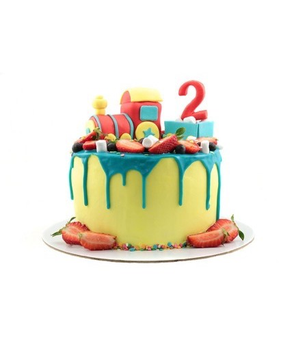 Торт Цветной паровозик