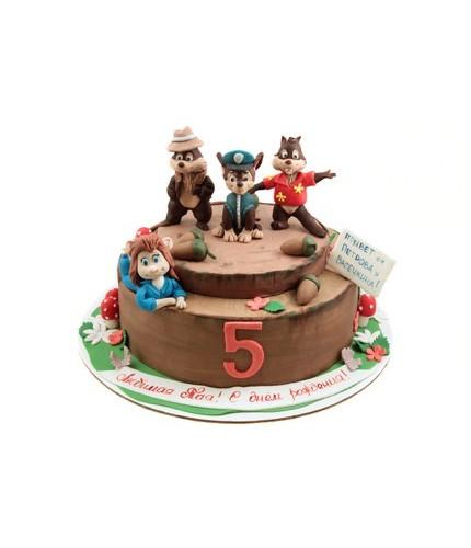 Торт с героями мультфильмов