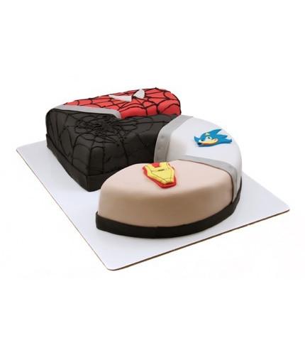 Торт на пять лет с героями Marvel
