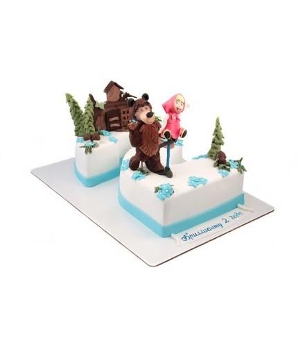Торт на два года Маша и медведь