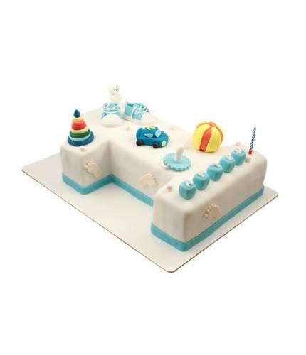Торт в форме цифры 1