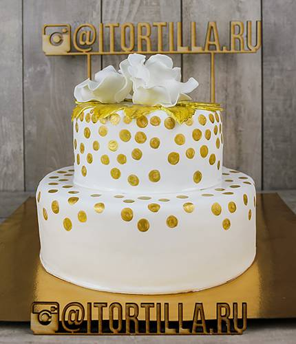 Свадебный торт золотой горох
