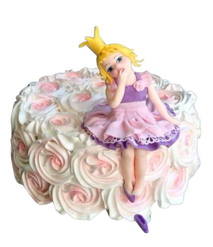 Торт принцесса на розах