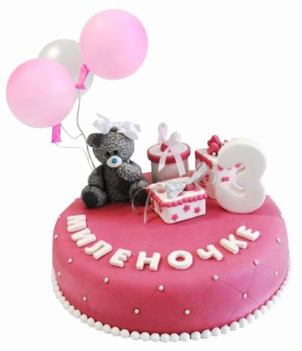 Торт с мишкой Тедди