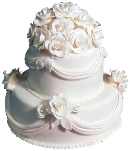 Торт Белые розы