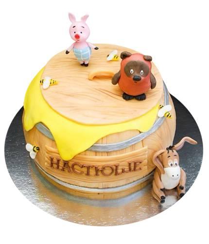 Торт Винни на медовой бочке