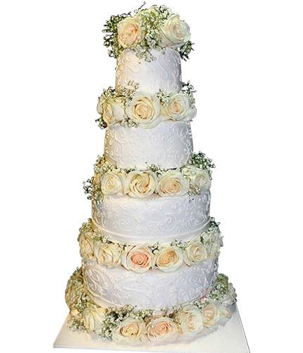 Торт с большими розами