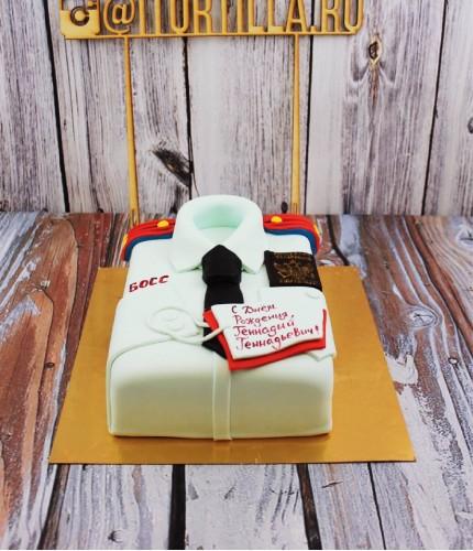 Торт рубашка полицейского