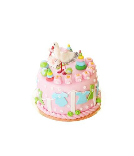 Торт Аист с ребёнком