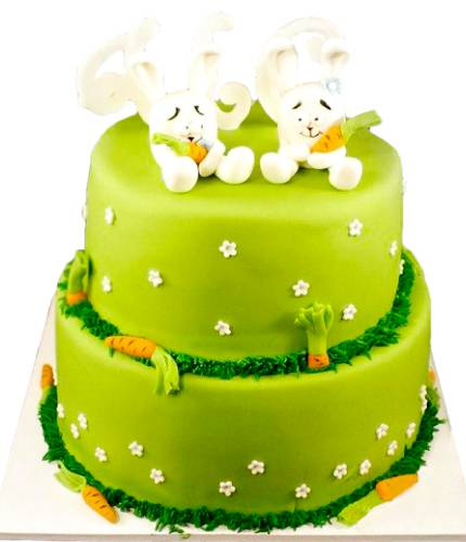 Торт с двумя зайцами