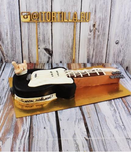 Торт гитара с рукой