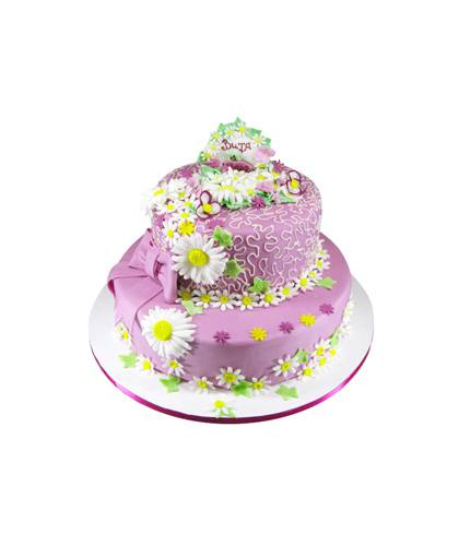 Торт в цветах