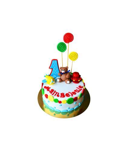 Торт Довольный медведь