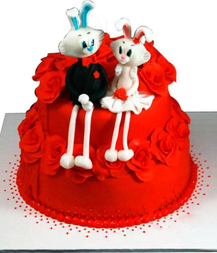 Торт с кроликами