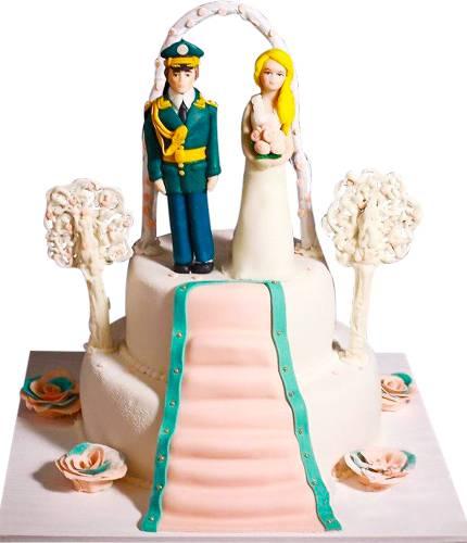 Торт Свадьба военных