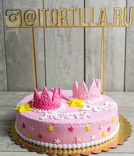 Торт для феи с короной