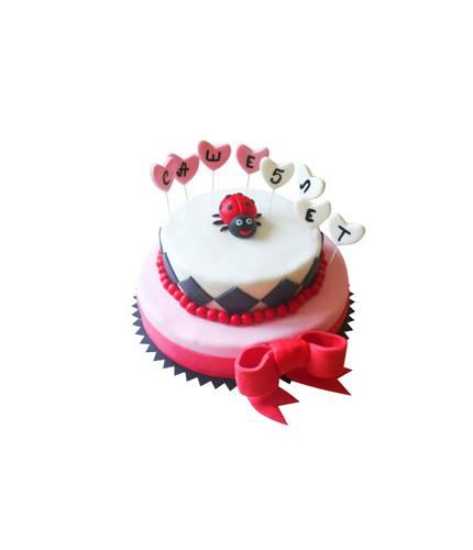 Торт на День Рождение Божья Коровка