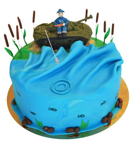 Торт танк у моря