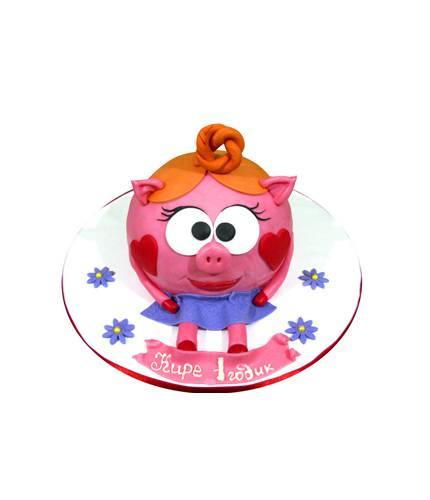 Торт Красный смешарик
