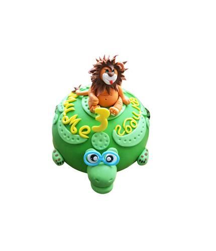 Торт Лев на черепахе