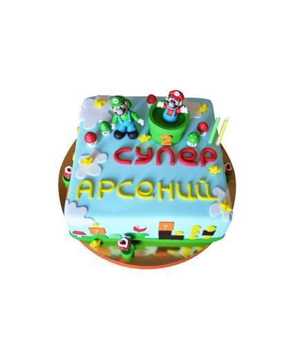 Торт Супер Марио