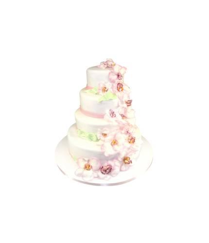 Свадебный торт с орхидеями