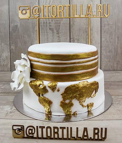 Торт золотая карта
