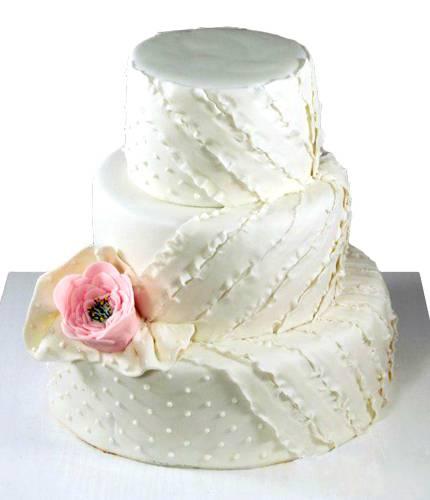 Торт с большой розой