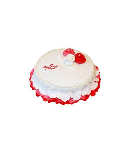 Торт с тремя розами