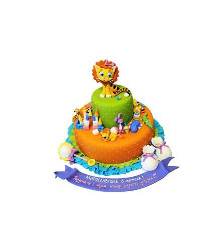 Торт со львёнком