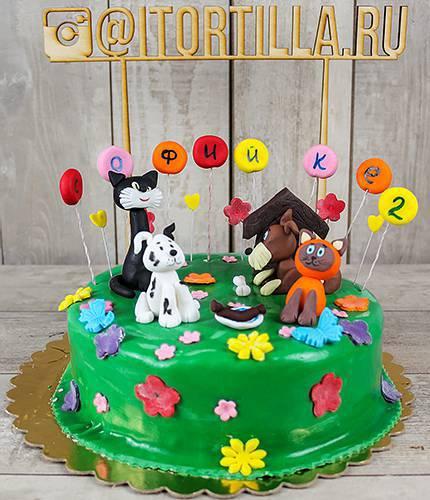 Торт котенок Гав и его друзья