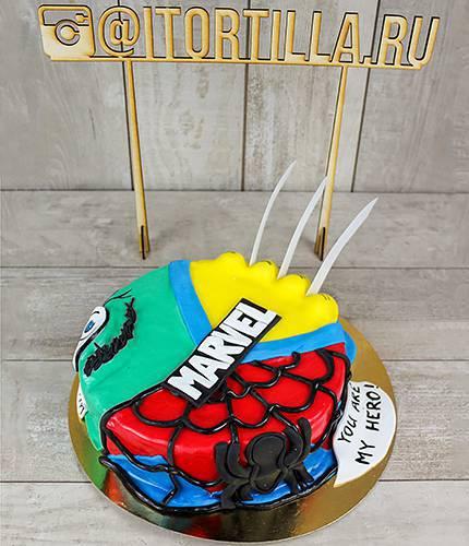 Торт герои Marvel