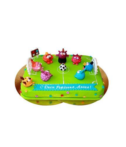 Торт Смешарики на футболе